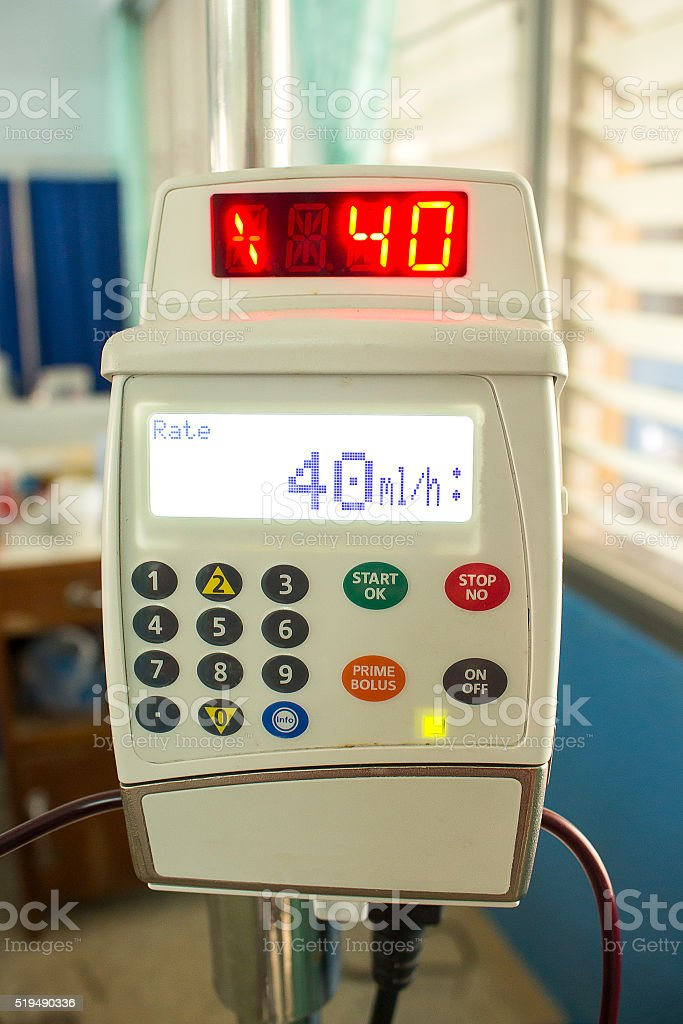 Infusion pump stock photo