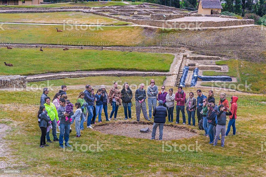 Ingapirca Inca Ruins in Azuay Ecuador stock photo