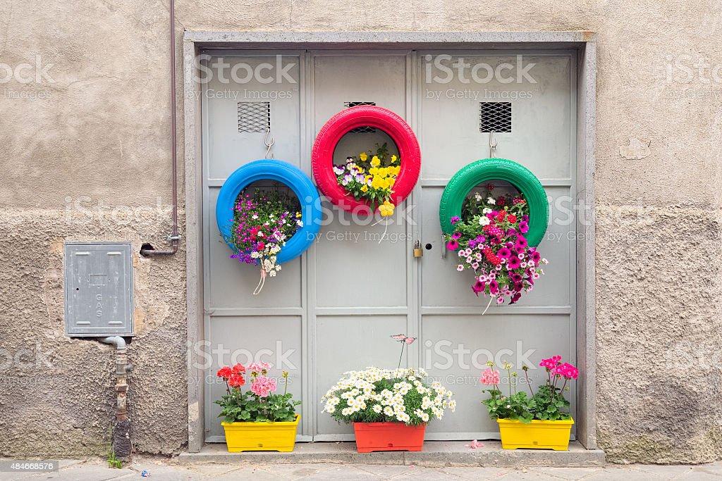 Ingenious, original and environmentally method of recycling stock photo