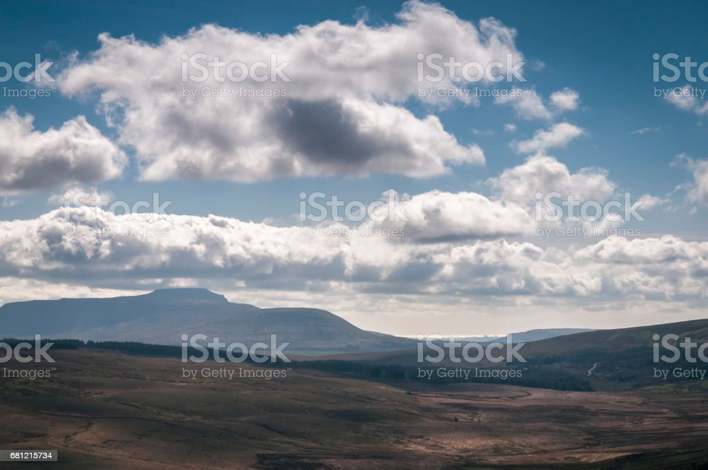 Ingleborough stock photo