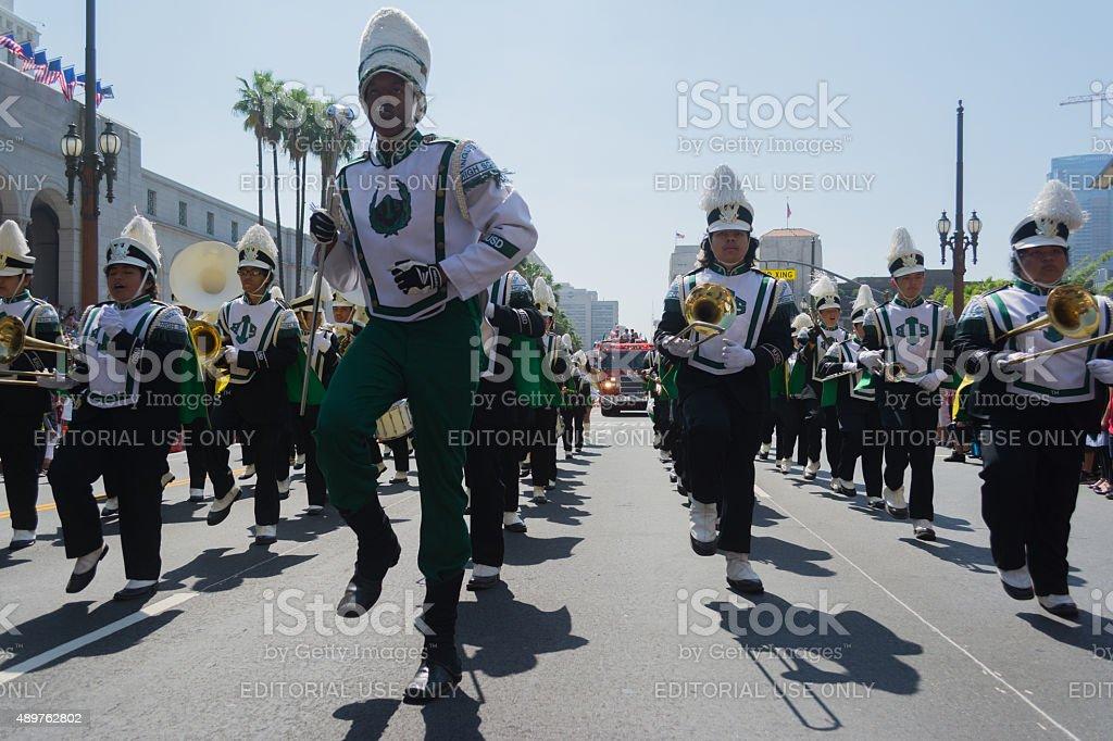 Inglewood High School Band stock photo