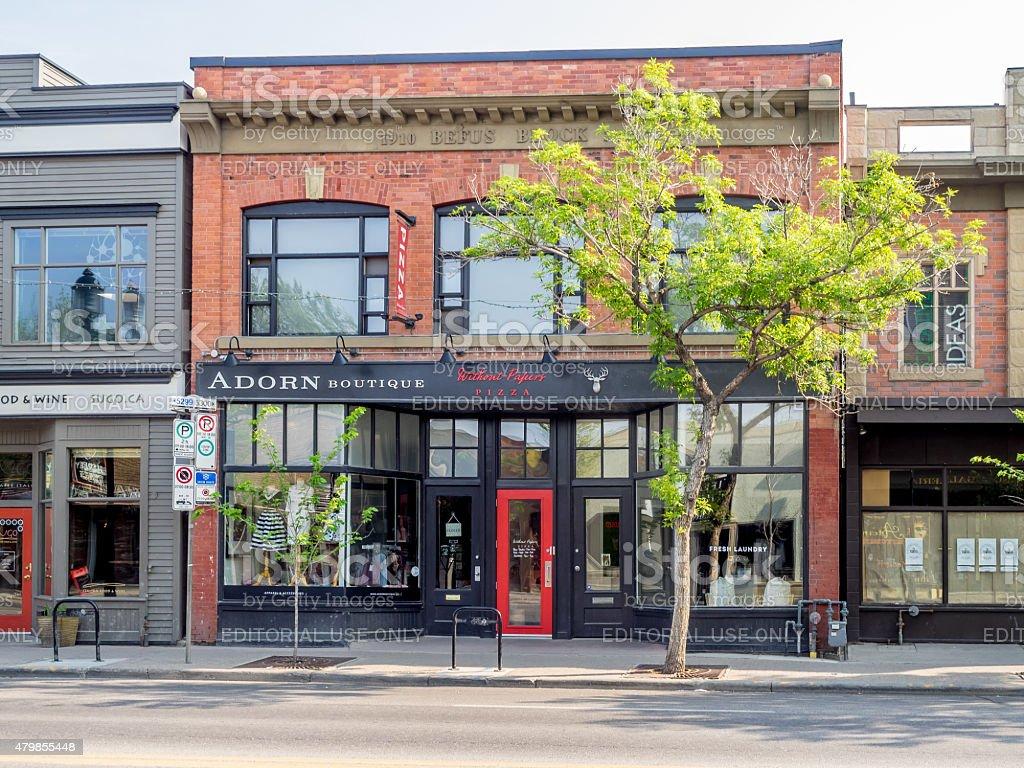 Inglewood neighbourhood, Calgary stock photo