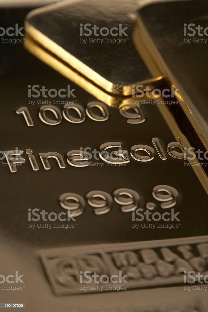 Ingot of bank gold. royalty-free stock photo