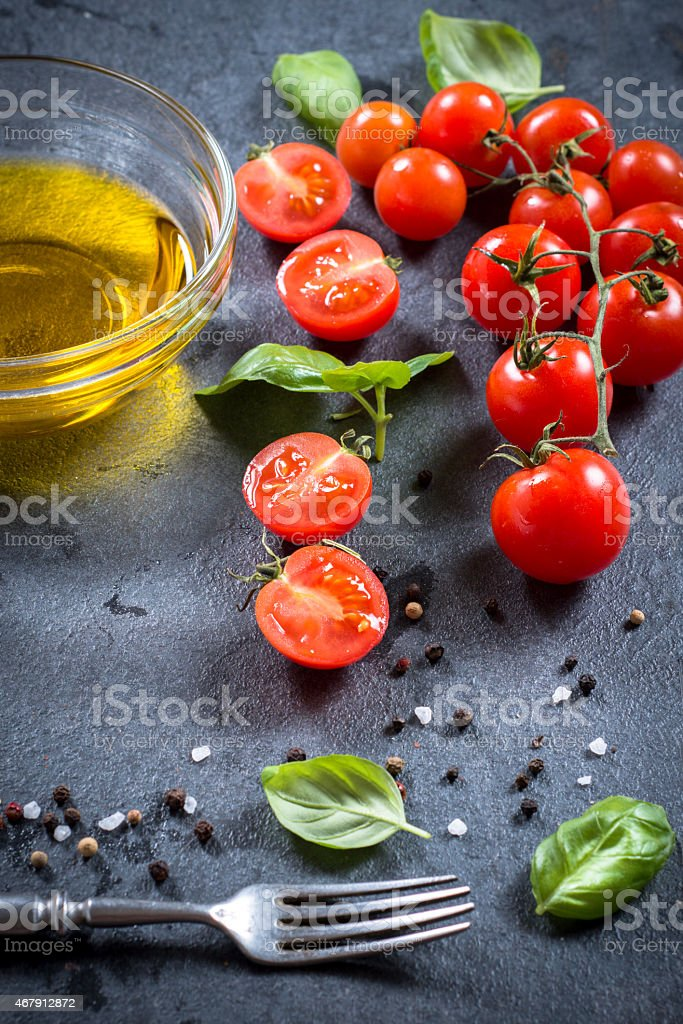 Ingredians on the table stock photo