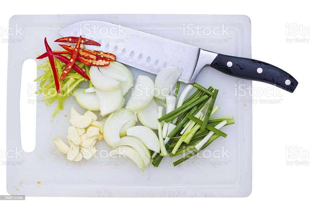 ingrediant and knife royalty-free stock photo