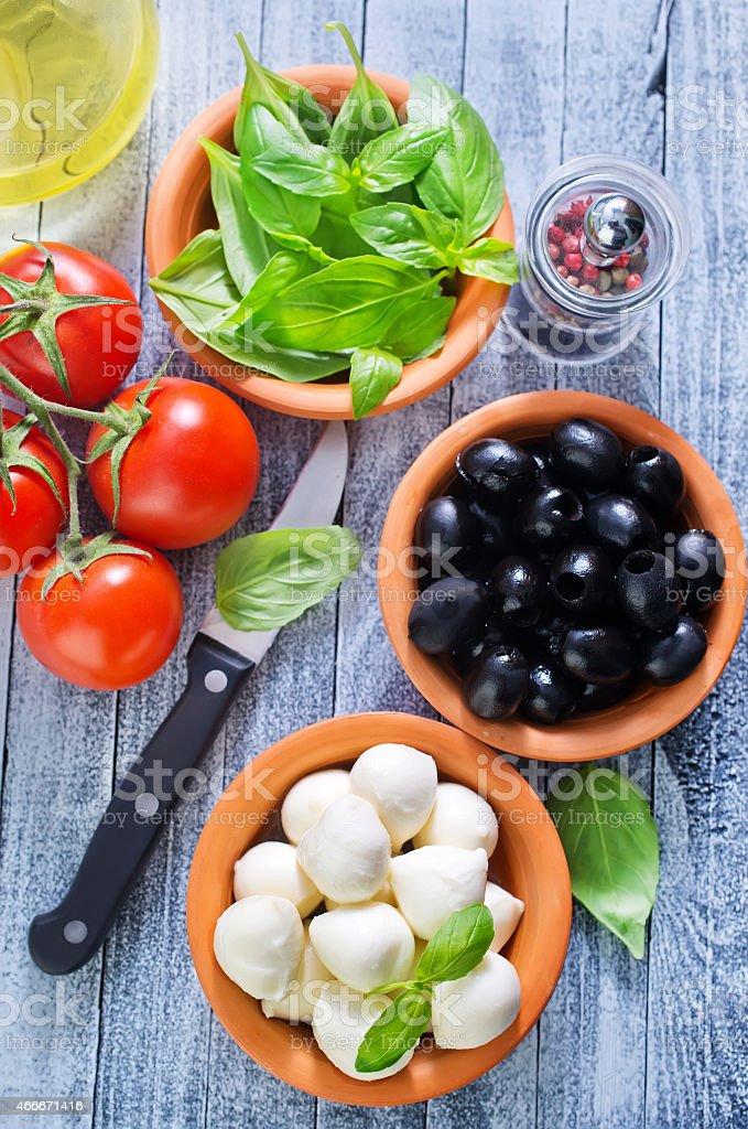 ingredient for caprese stock photo