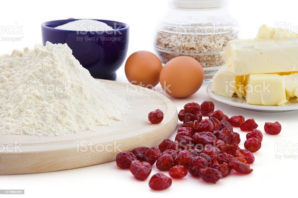 Ingredient for cookies with cherry royalty-free stock photo