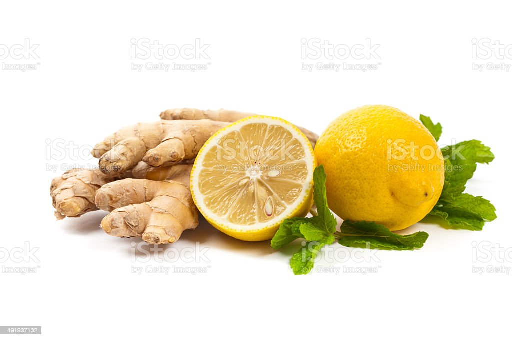Ingredient for Ginger tea stock photo