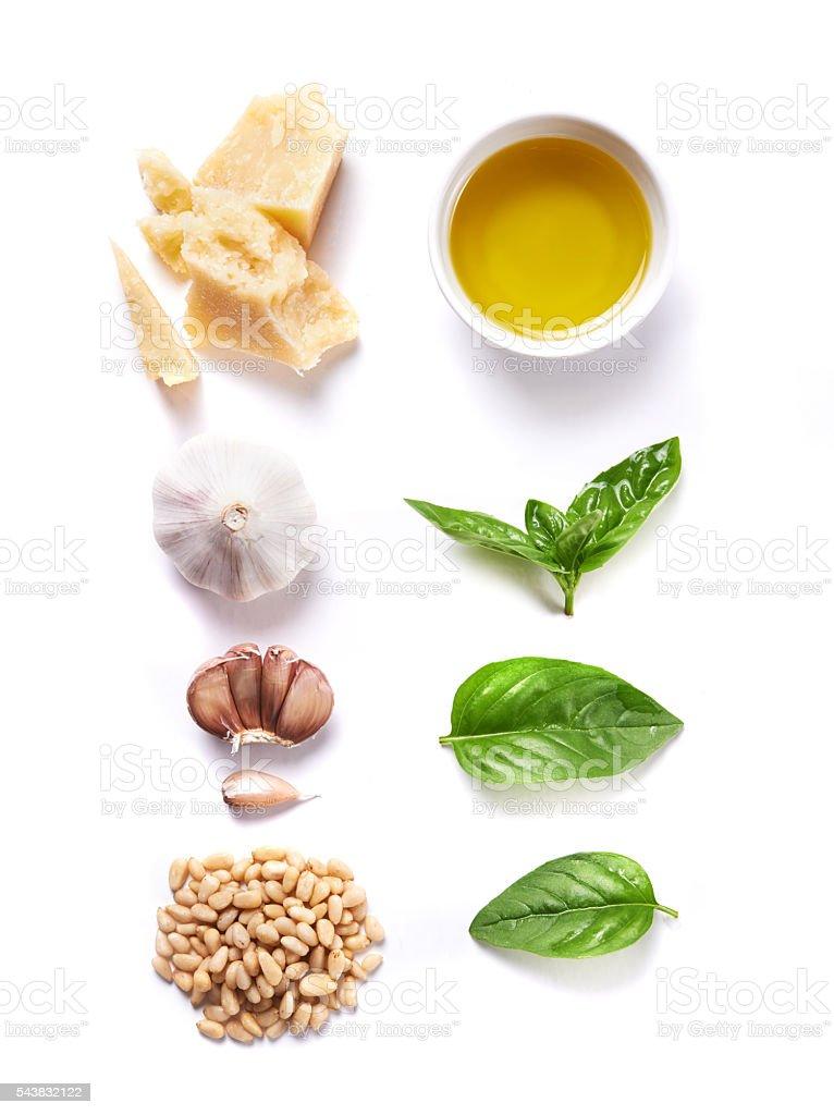 ingredient for pesto stock photo