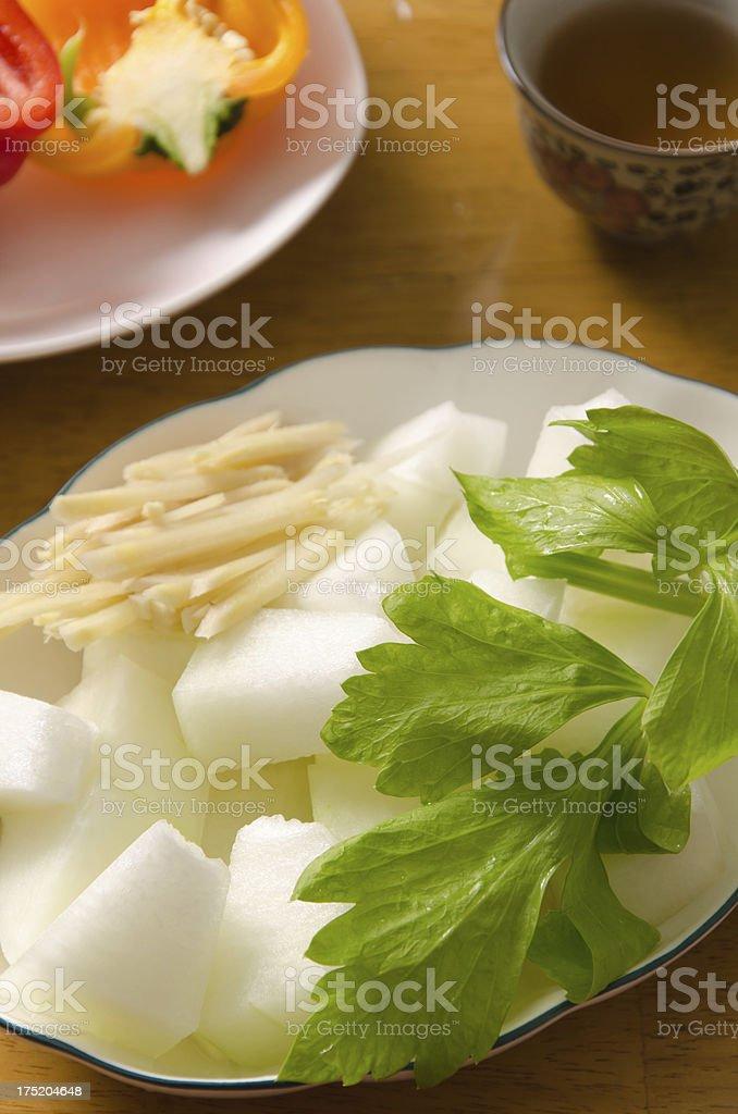 ingredient of white gourd (ash gourd/winter melon) stock photo