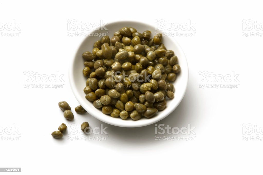 Ingredients: Capers royalty-free stock photo