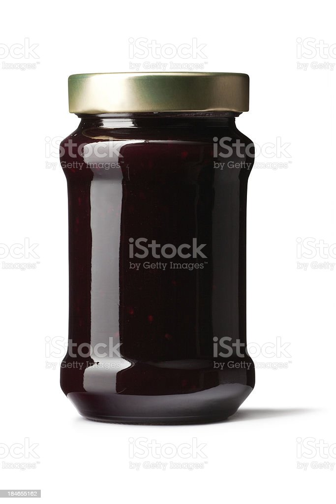Ingredients: Cherry Jam royalty-free stock photo