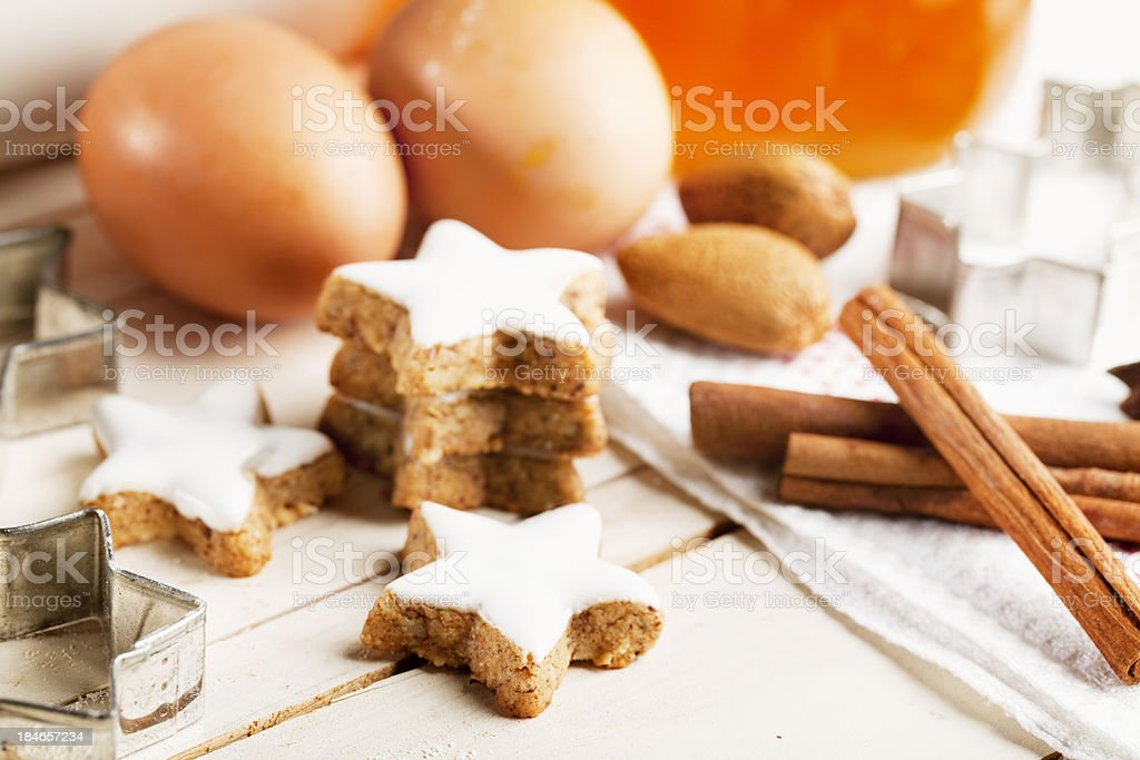 ingredients christmas baking and cookies stock photo