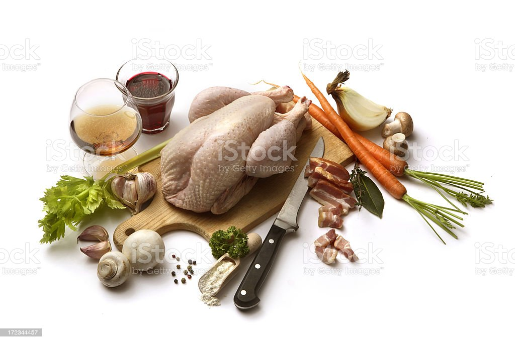 Ingredients: Coq au Vin royalty-free stock photo