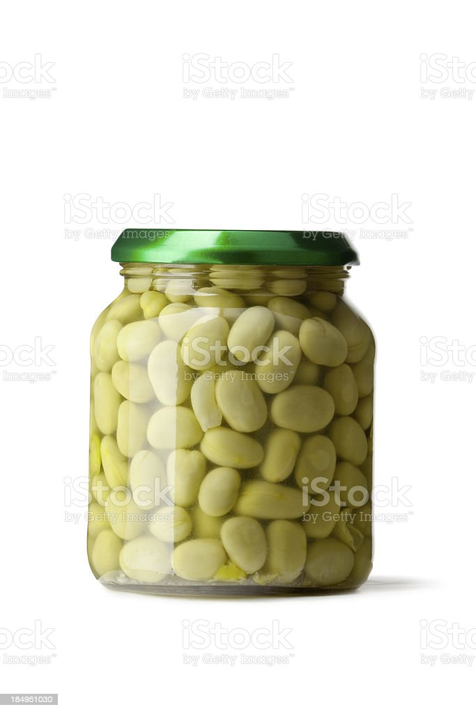 Ingredients: Field Beans in Jar stock photo