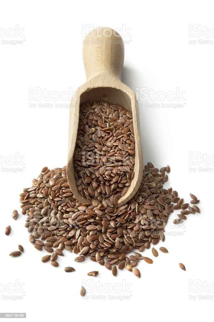 Ingredients: Flax Seeds stock photo