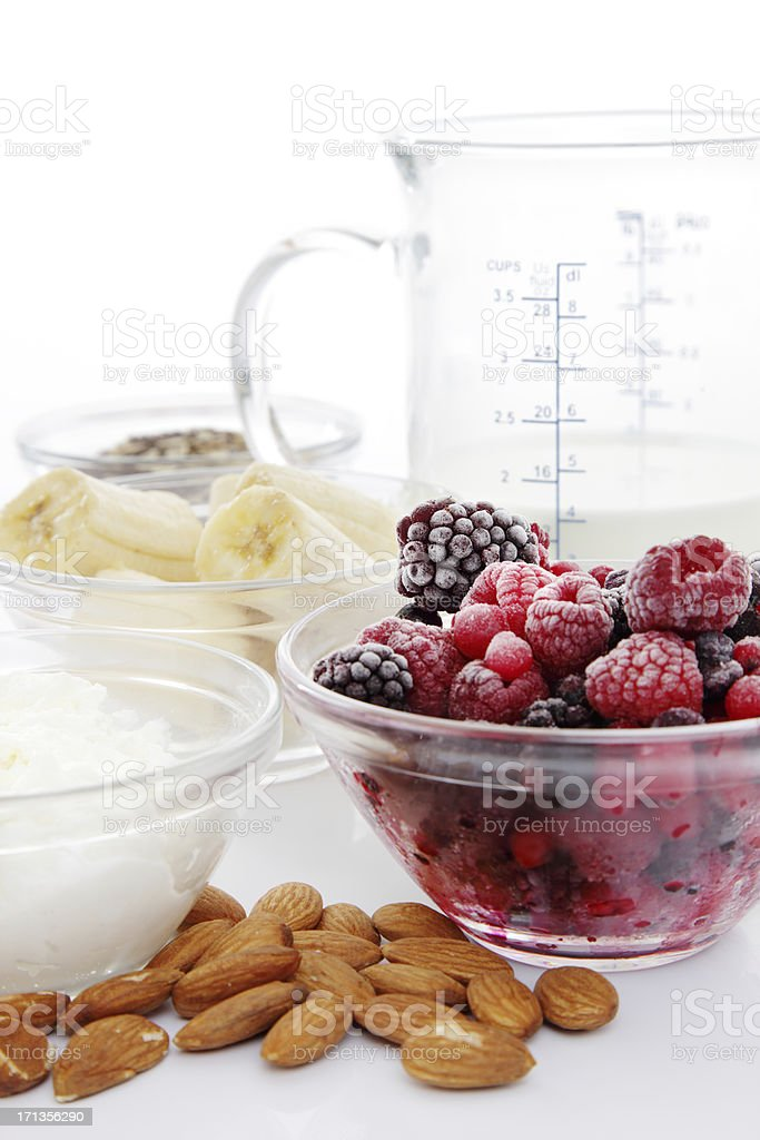 Ingredients for a Fitness Shake royalty-free stock photo