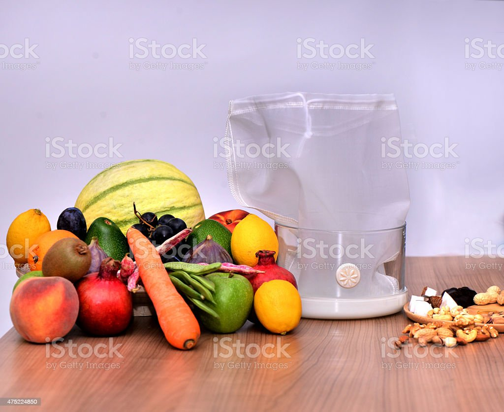 Ingredients for a heathy smoothie stock photo