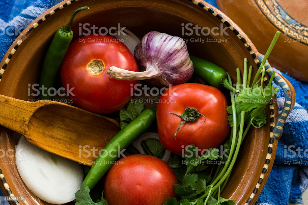 Ingredients for a Red Salsa royalty-free stock photo