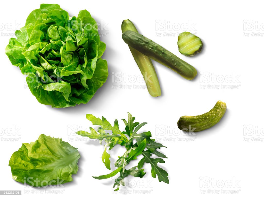 Ingredients for a salad stock photo