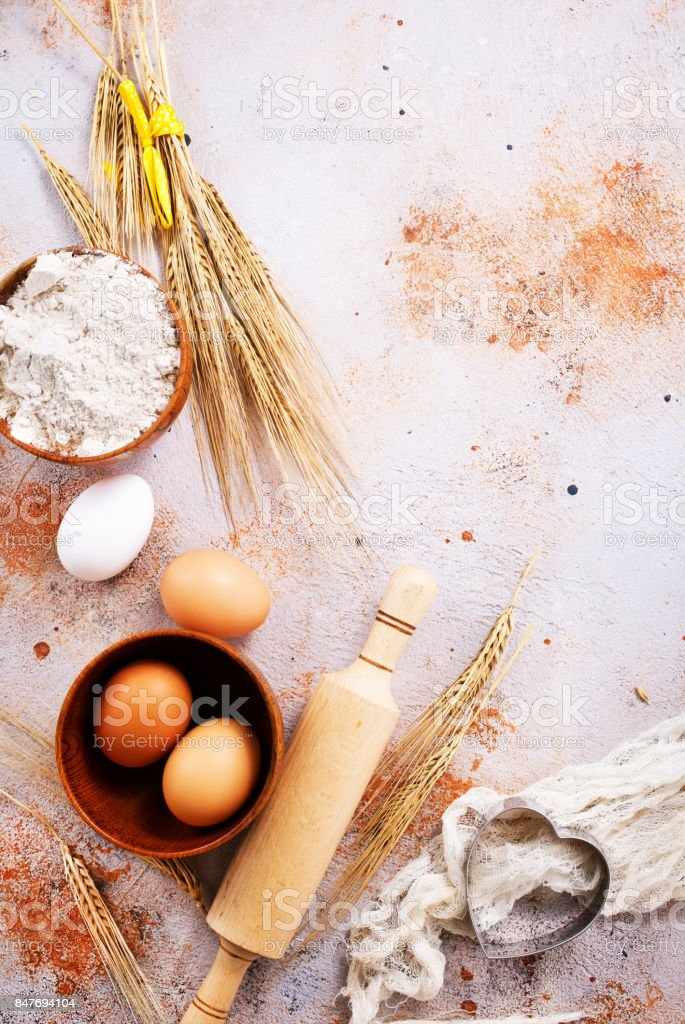ingredients for baking stock photo