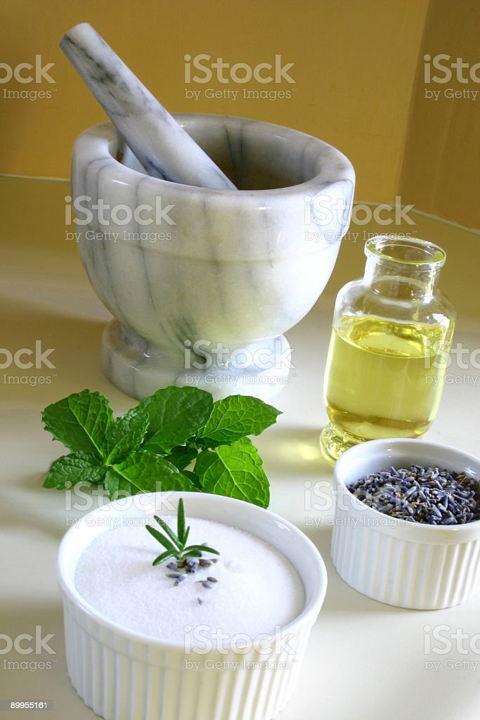 Ingredients for Beauty Recipes stock photo