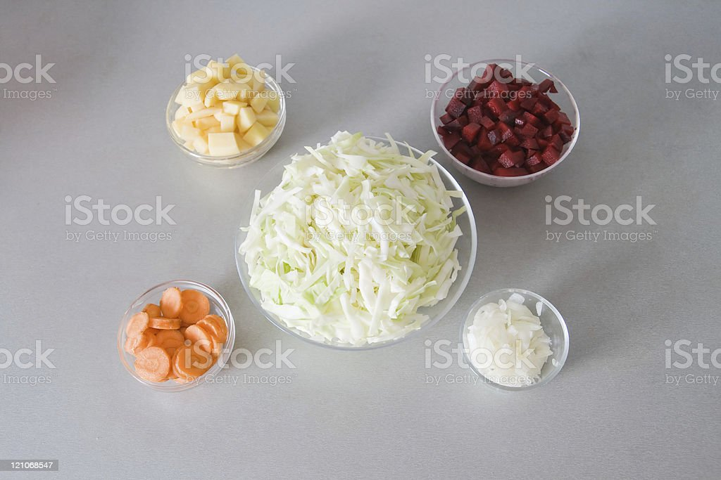 Ingredients for borsch royalty-free stock photo