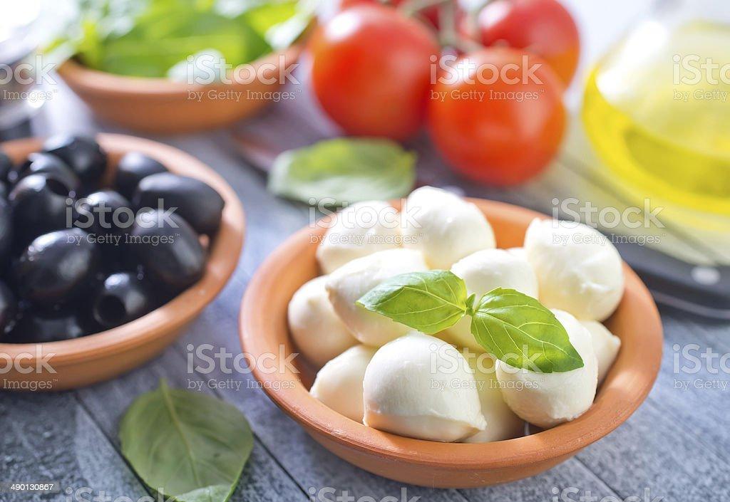 ingredients for caprese stock photo