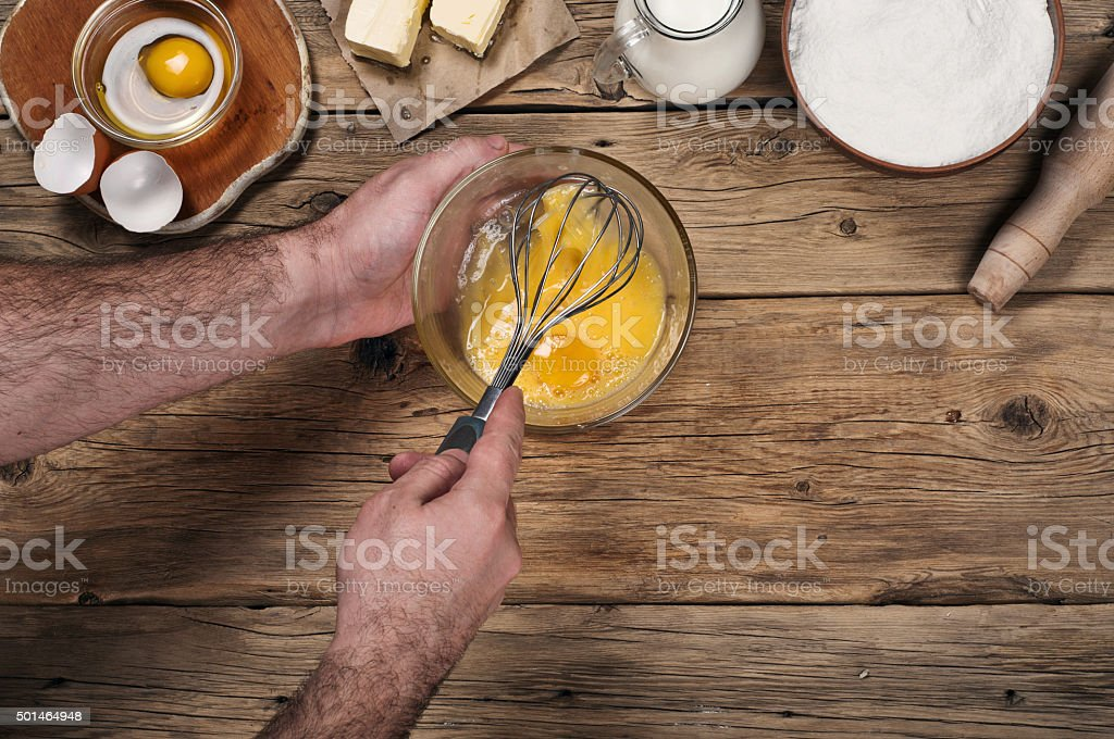 Ingredients for cooking flour products or dough stock photo
