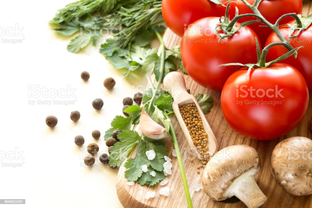 Ingredients for cooking sauce. stock photo