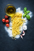 Ingredients for homemade spaghetti