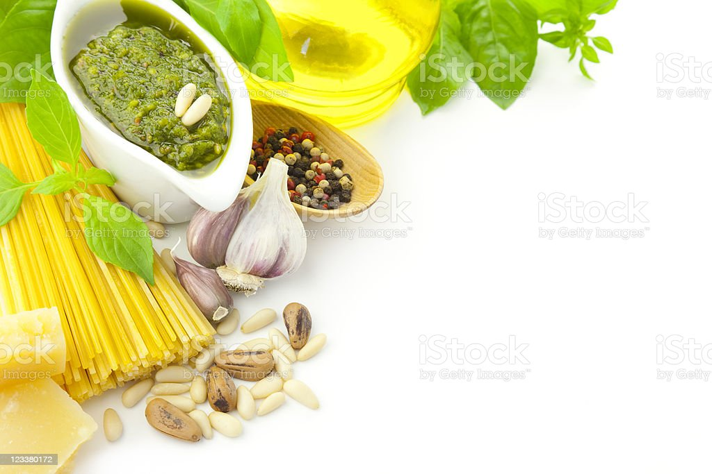 Ingredients for Italian cooking / frame composition royalty-free stock photo