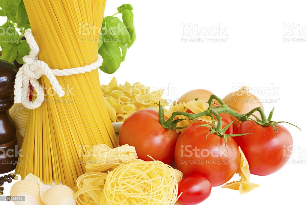 ingredients for italian pasta royalty-free stock photo