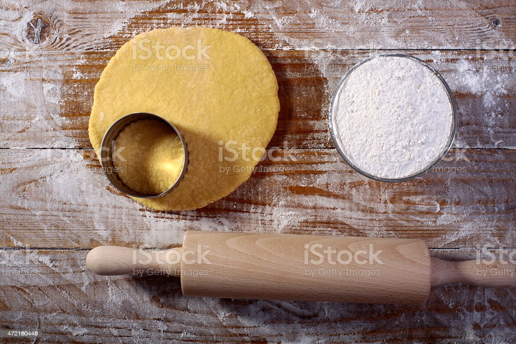 Ingredients for making pastry stock photo