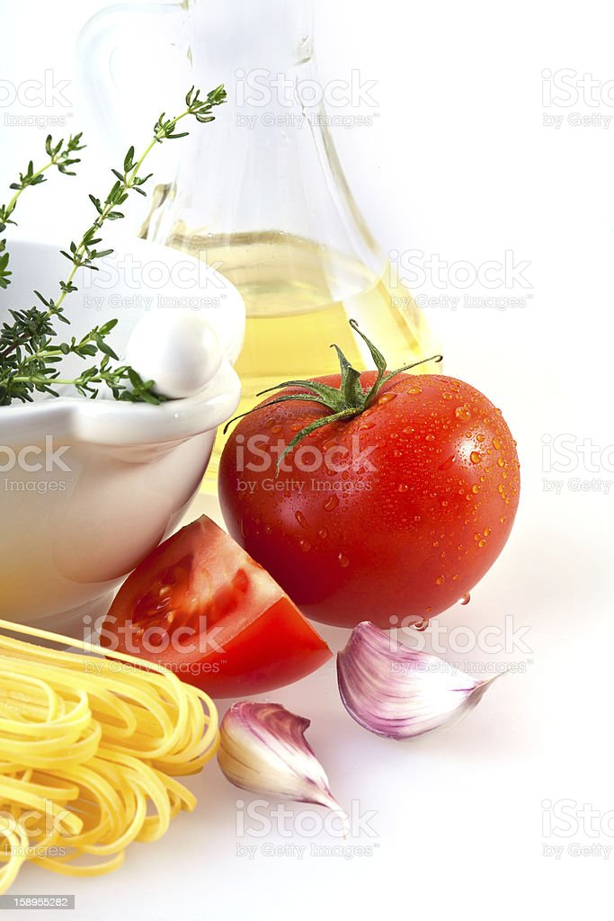 Ingredients for Pasta royalty-free stock photo
