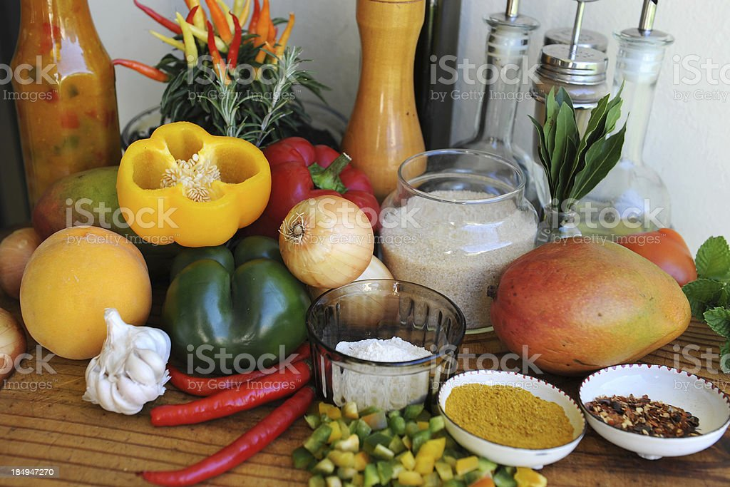 Ingredients for Pepper Chutney royalty-free stock photo