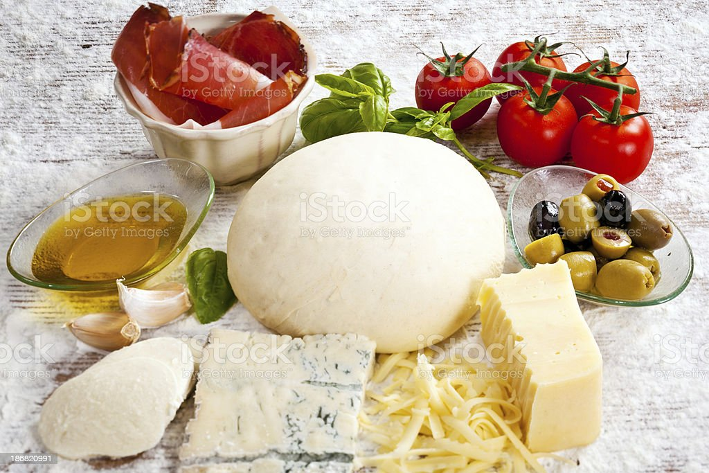 Ingredients for pizza royalty-free stock photo