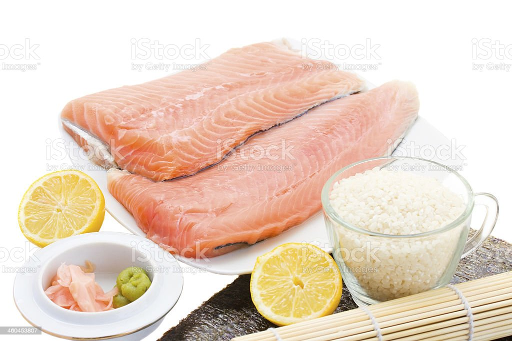 ingredients  for suchi royalty-free stock photo