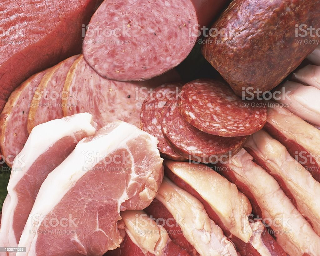 Ingredient's of fresh meat ready to cook on barbecue royalty-free stock photo