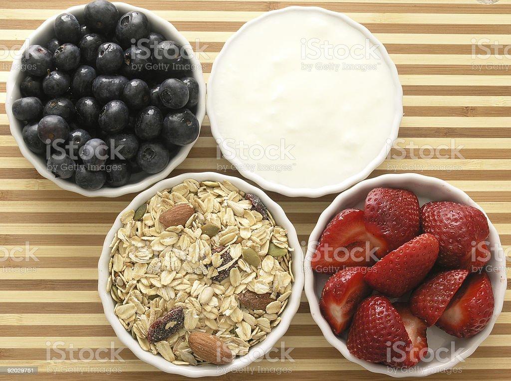 ingredients of healthy tasty breakfast royalty-free stock photo