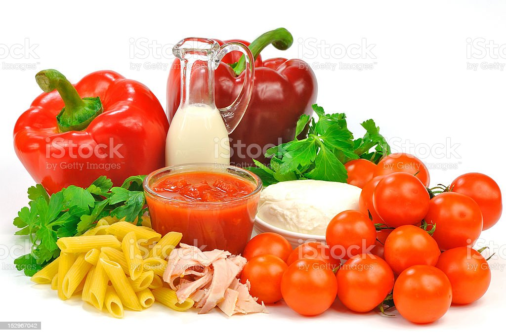 ingredients of Italian cuisine royalty-free stock photo