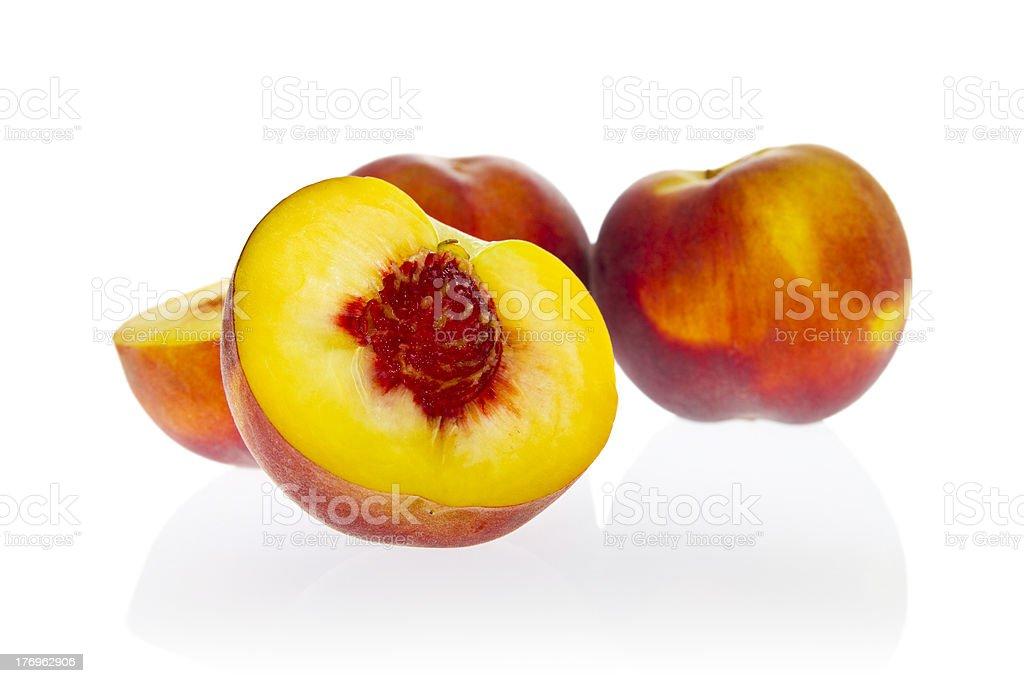 Ingredients: peaches. royalty-free stock photo