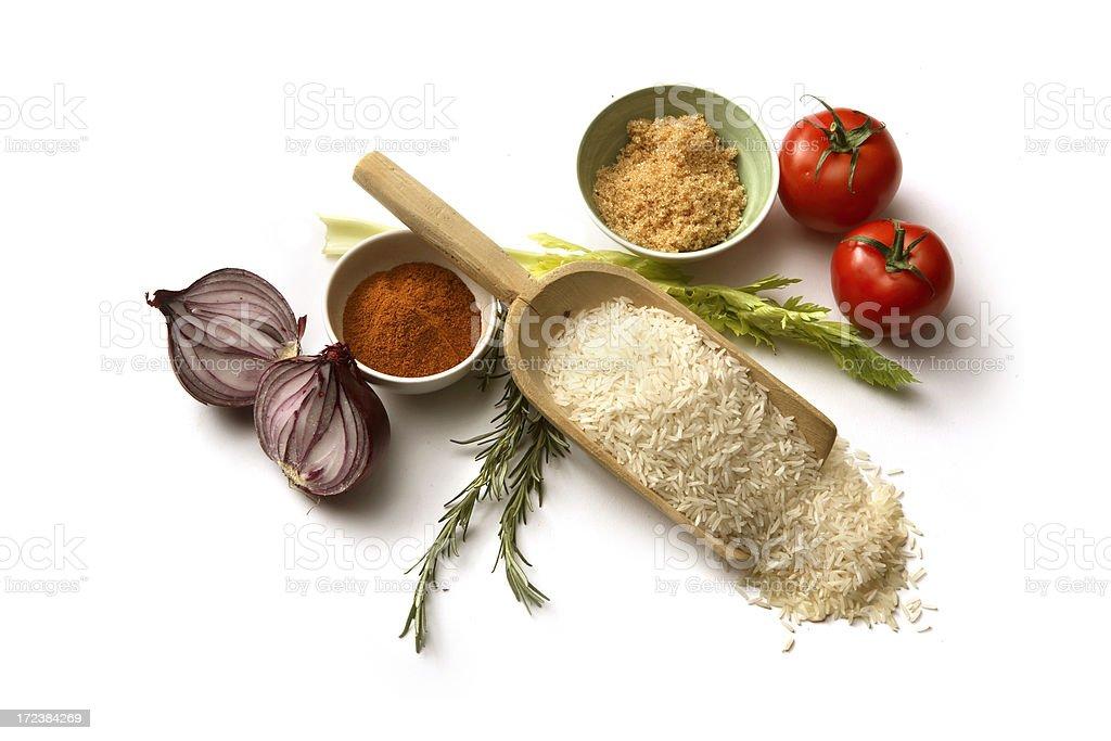 Ingredients: Pilaf Rice royalty-free stock photo