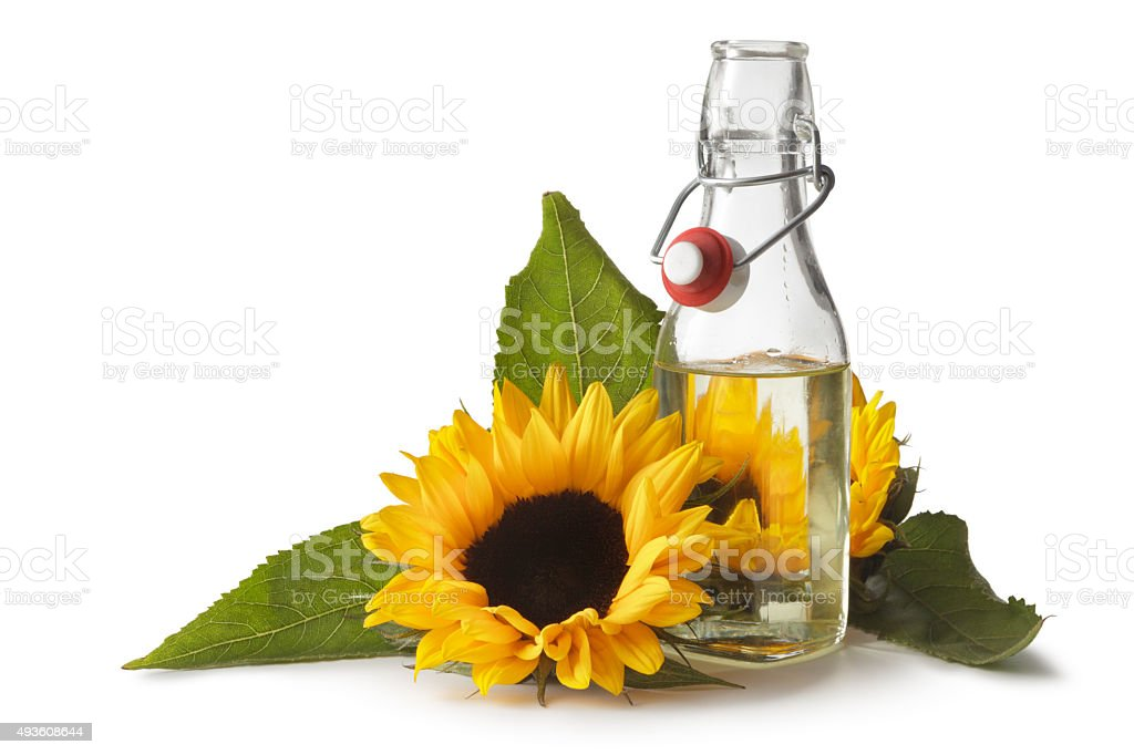 Ingredients: Sunflower Oil stock photo