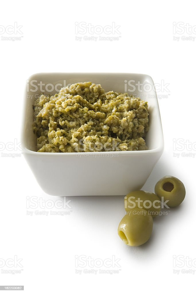 Ingredients: Tapenade stock photo