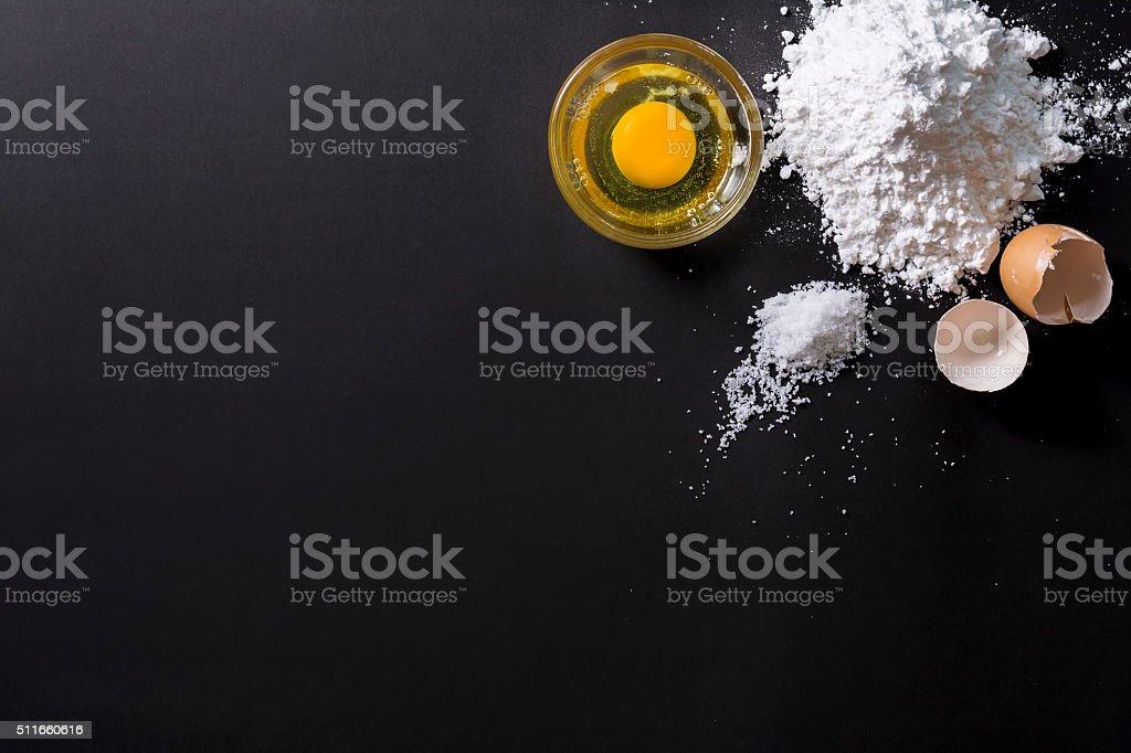 Ingredients to bake stock photo