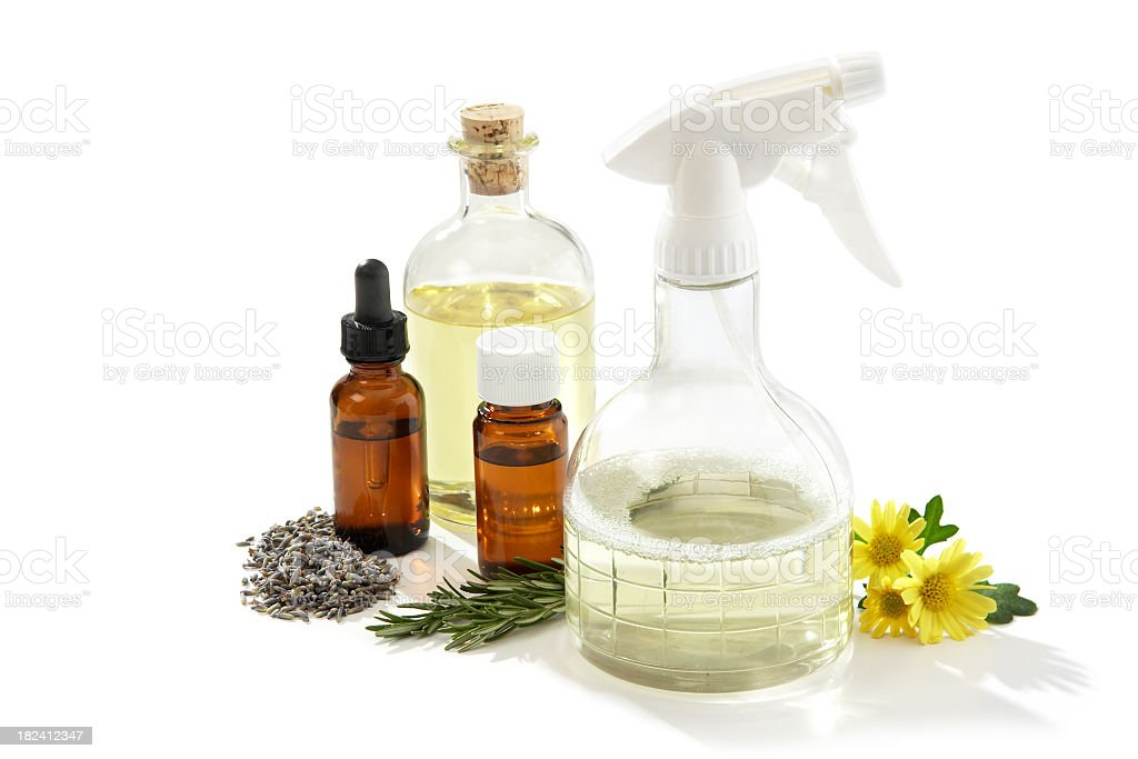 Ingredients to make Eco-friendly Cleaners stock photo