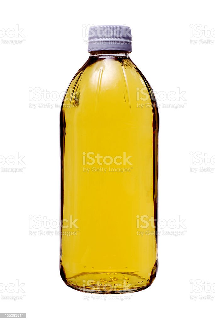 Ingredients Vinegar in Glass Bottle stock photo