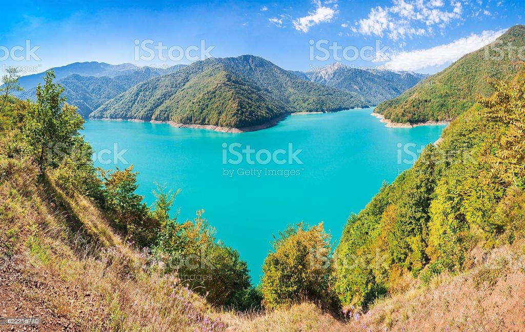 Inguri reservoir, Georgia stock photo