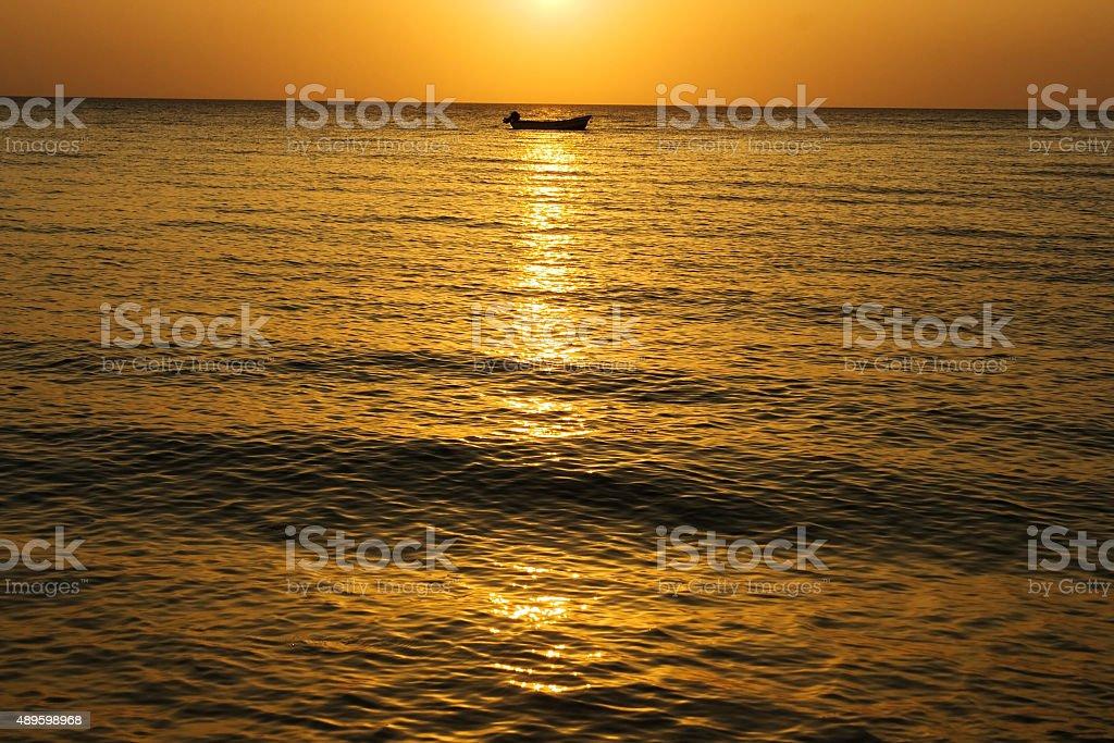 Inhaca Sunset stock photo